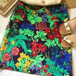 Talbots Vibrant Floral Skirt